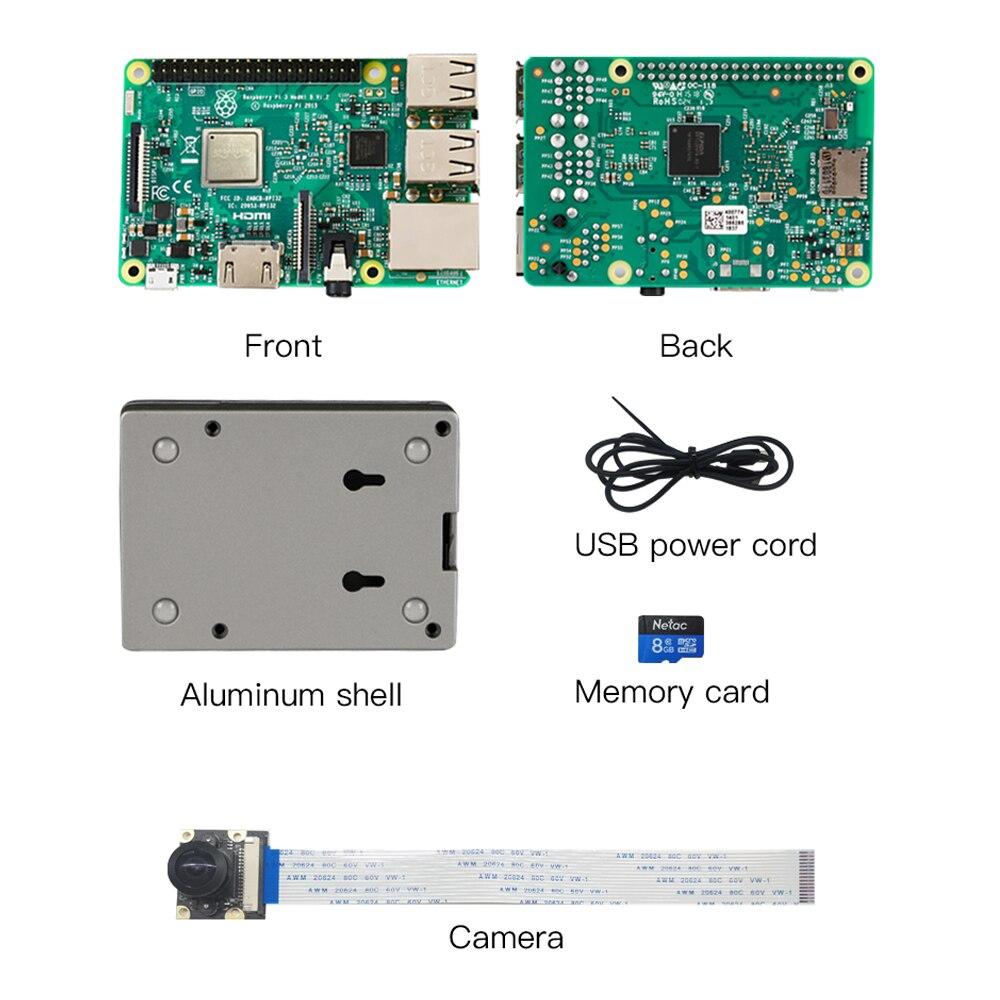 كرياليتي ثلاثية الأبعاد راسبيري Pi 3rd جيل B الألومنيوم في الوقت الحقيقي مراقبة الكاميرا على الانترنت تقطيع درجة الحرارة مرئية العرض