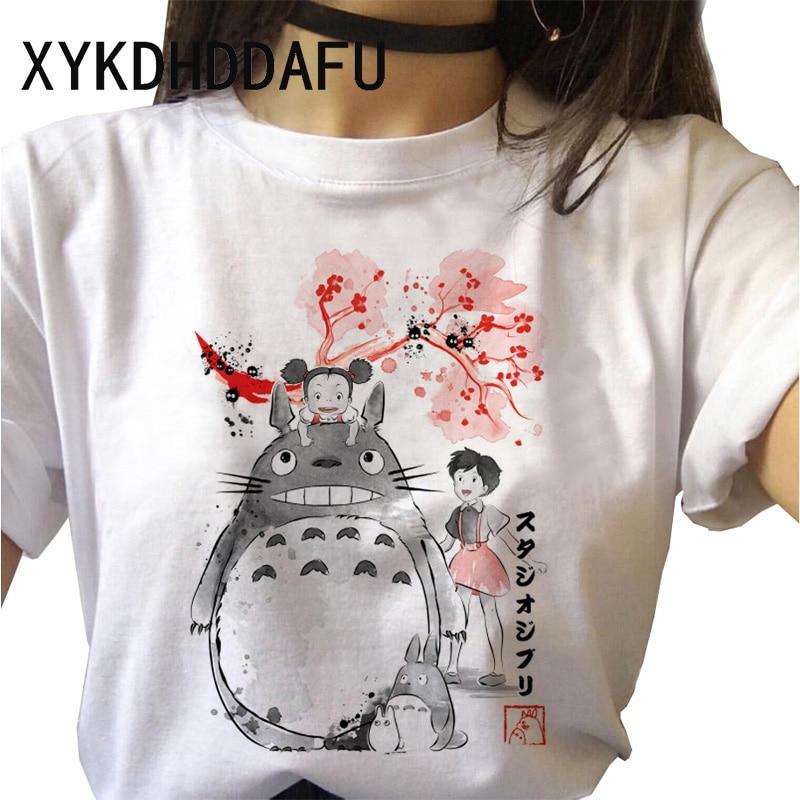 Totoro T-shirt Women Studio Ghibli Kawaii Harajuku Clothing Ladies Ulzzang Japanese Print