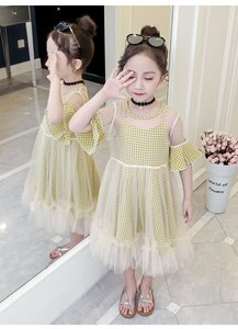 Fashion influx girls, new style, children's dress, summer dress, fashionable children's wear, big boy princess dress