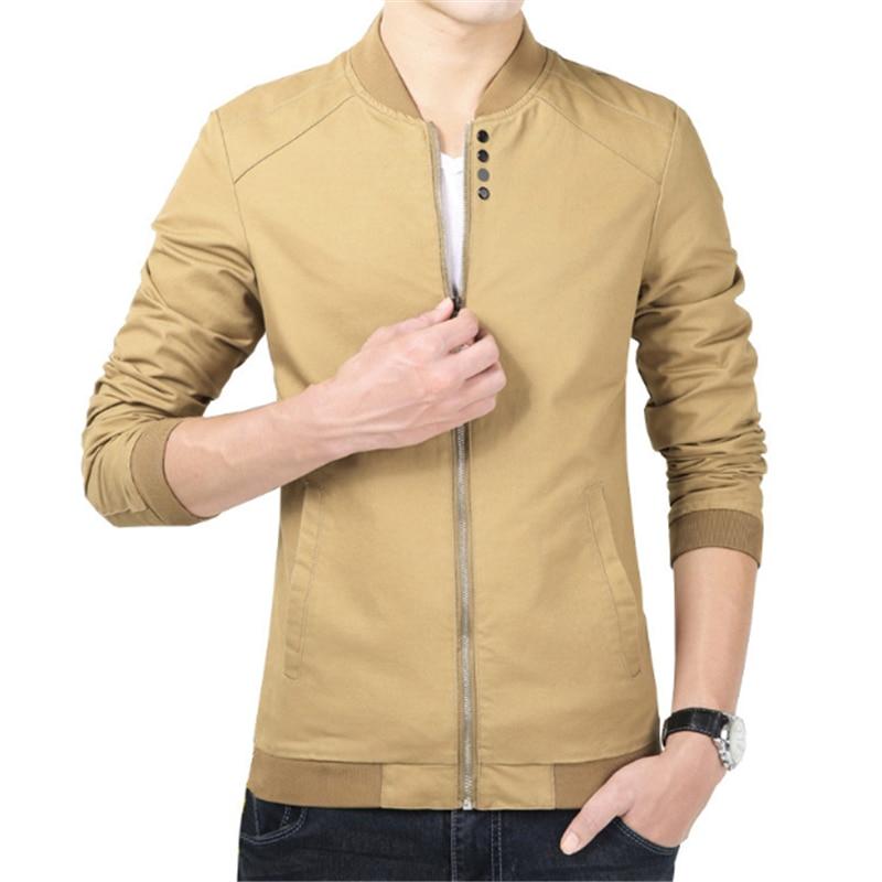 Chaqueta informal de algodón para hombre, chaqueta fina de moda, informal, para...