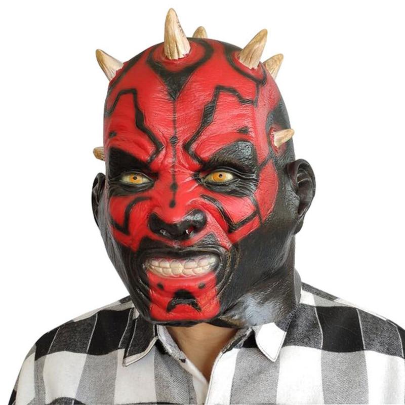 Máscara de látex de Darth Maul, Cosplay de Cosplay, Cosplay de la guerra de las galaxias, máscara Phantom Menace, máscaras de feliz fiesta