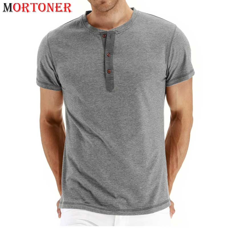 Camiseta de cuello Henley para hombre, Camiseta entallada informal de algodón 2021,...
