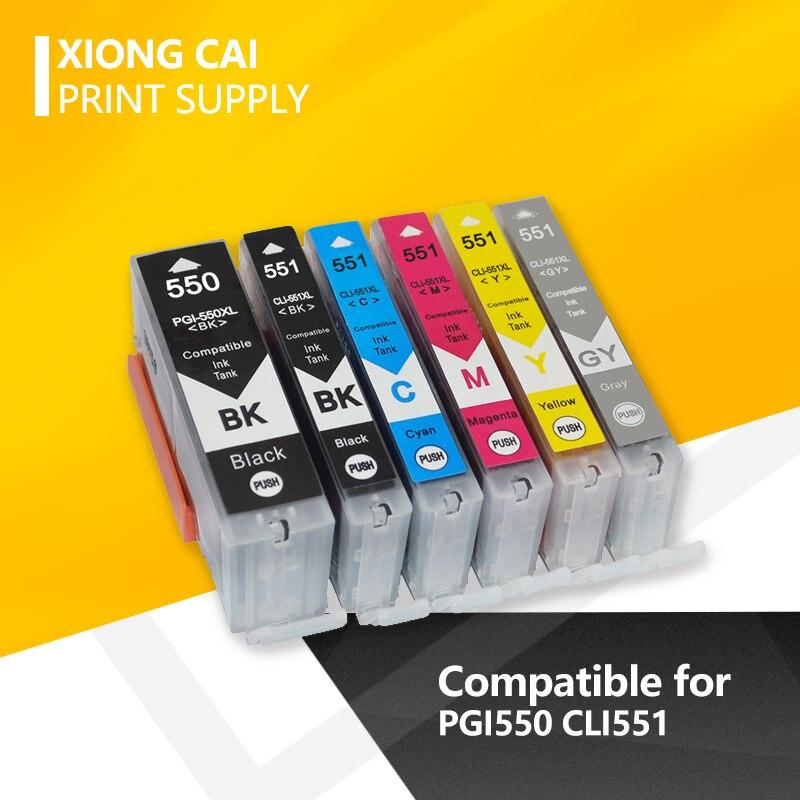 12 шт. PGI550 CLI551 совместимые чернильные картриджи для Canon MG6350 MG7150 IP8750 Ip7250 принтеры PGI-550 CLI 551 PGI-550 CLI-551