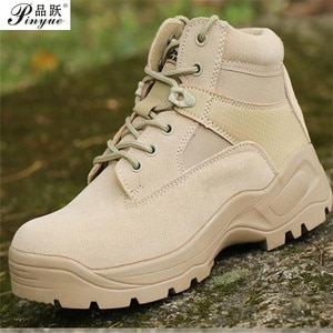 Black Sand Swat Men's Tactical ankle Boots Military Combat Shoes leather Autumn Winter outdoor training Desert Boots Size 39-45