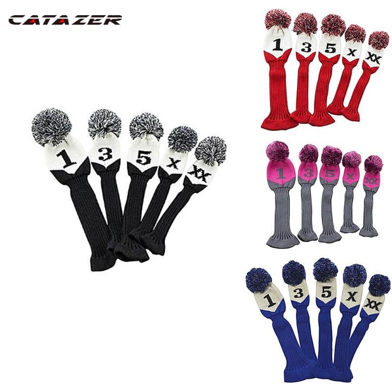 Чехлы Catazer для гольф-клуба 1, 3, 4, 5 для мужчин, женщин, детей, чехлы для головы, гибридные Чехлы для вождения в лесу, чехлы для головы, продаются ...
