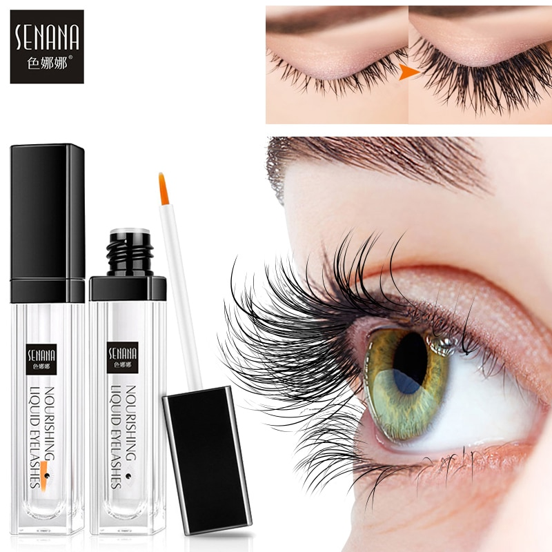 SENANA EGF Eyelash Growth Serum Vitamin E Eyelash Enhancer Longer Fuller Thicker Lashes Eyelashes Eyebrows Enhancer Eye Care 7Ml недорого