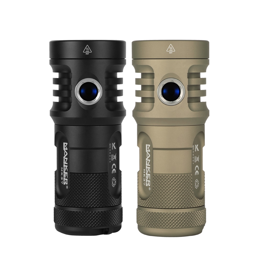 Manker MK37 Ultra High Performance Superior Searchlight Max.5800 Lumens Flashlight with SBT90.2 LED and White/Green Light enlarge