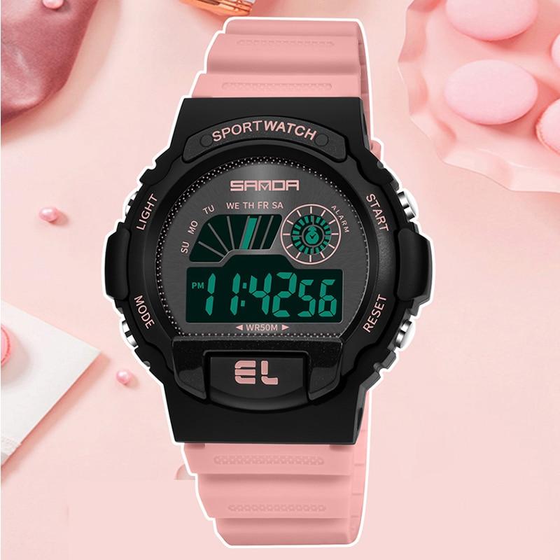 SANDA Children's LED Display Digital Watches Fashion Outdoor Sport Waterproof Multifunction Watch Boy Girl Gift Clock relógio