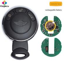 KEYECU-clé Rechargeable 3 boutons   Porte-clés à puce ID46 315MHz, pour BMW Mini Cooper 2007 2008 2009 2010 2011 2012 2013 2014