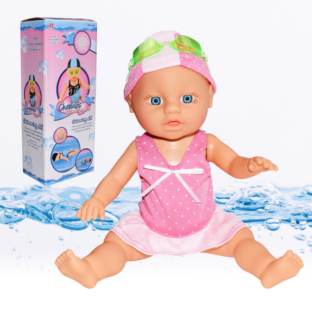 Nuevo muñeco impermeable de natación chico niñas juguete de natación muñeca para el agua muñecas eléctricas articulaciones muñecas móviles mejor juguete de regalo para niños
