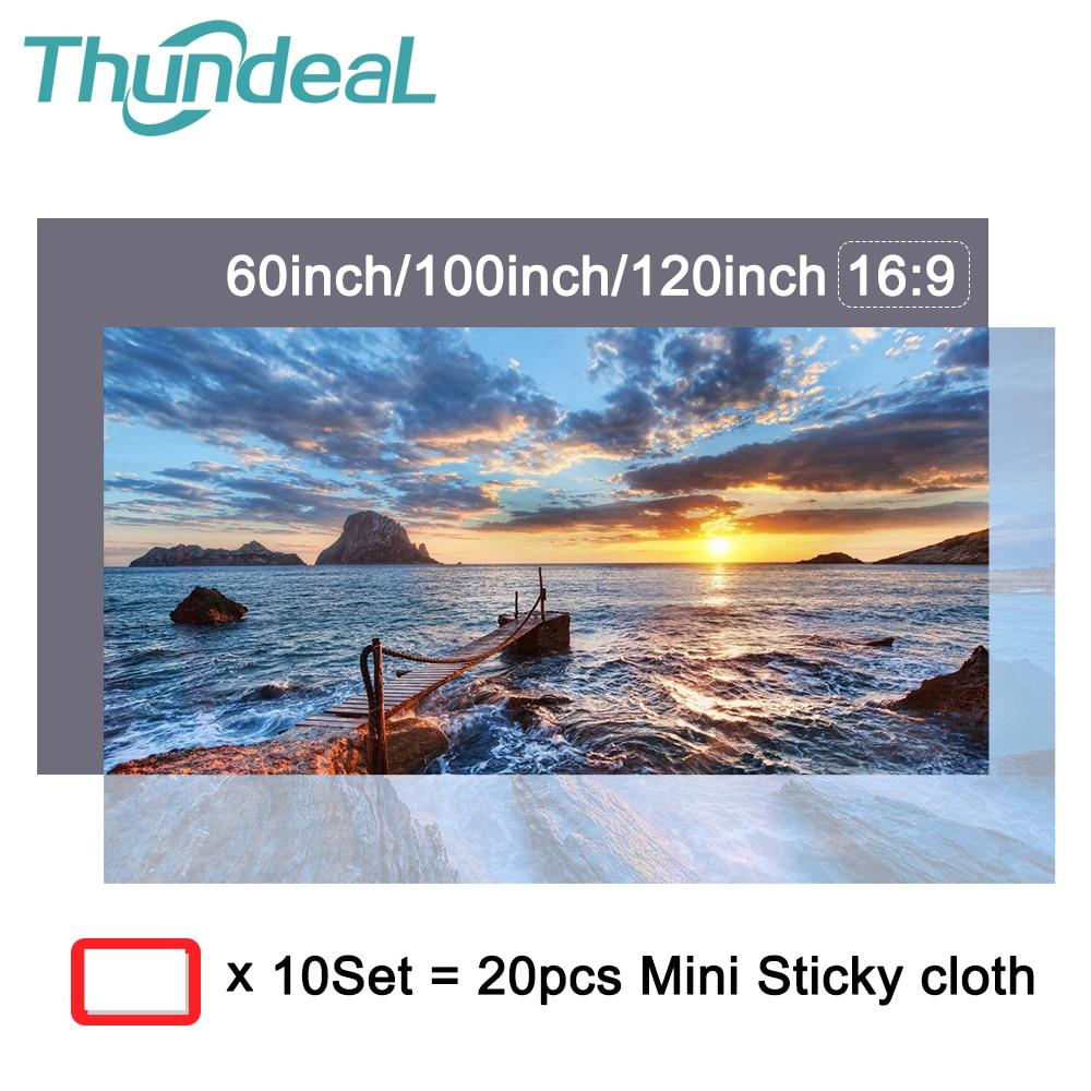 ThundeaL Projektor Bildschirm Stoff 60 84 100 zoll Reflektierende Stoff Projektion Bildschirme für XGIMI Xiaomi DLP Projektor Vorhang