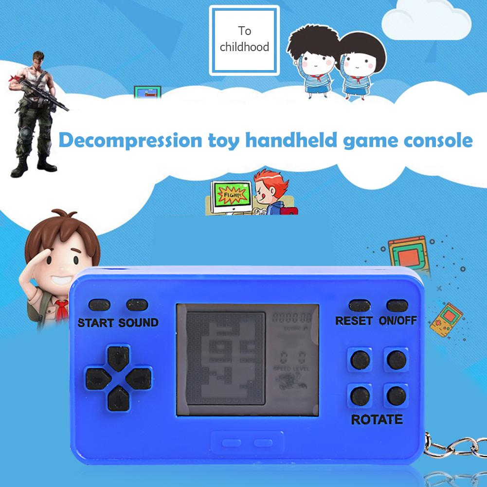 Handheld Portable Game Player Classic Retro Decompression Relieves Mood Mini Retro Tetris Video 26 Games Console for Gift