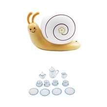 2 Set Dollhouse Miniature Dining Ware Porcelain Tea Set Dish Cup Plate , Petunia & Blue Wave Point