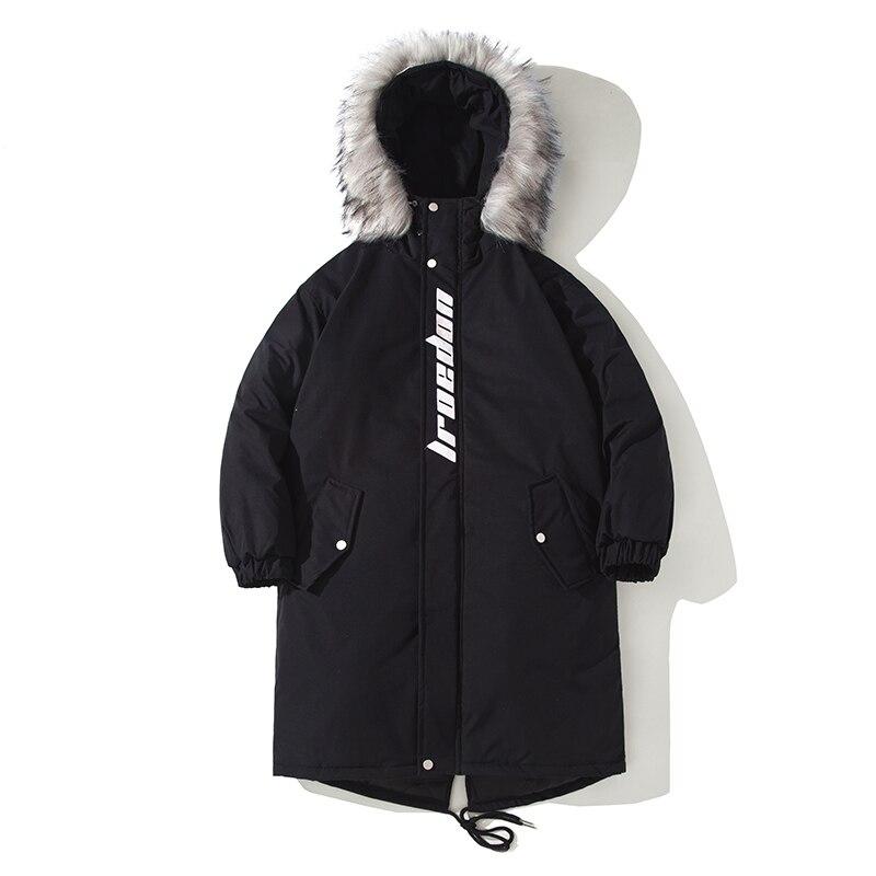 Abrigo largo de invierno 2020para hombre... chaquetas con capucha informal gruesas y...