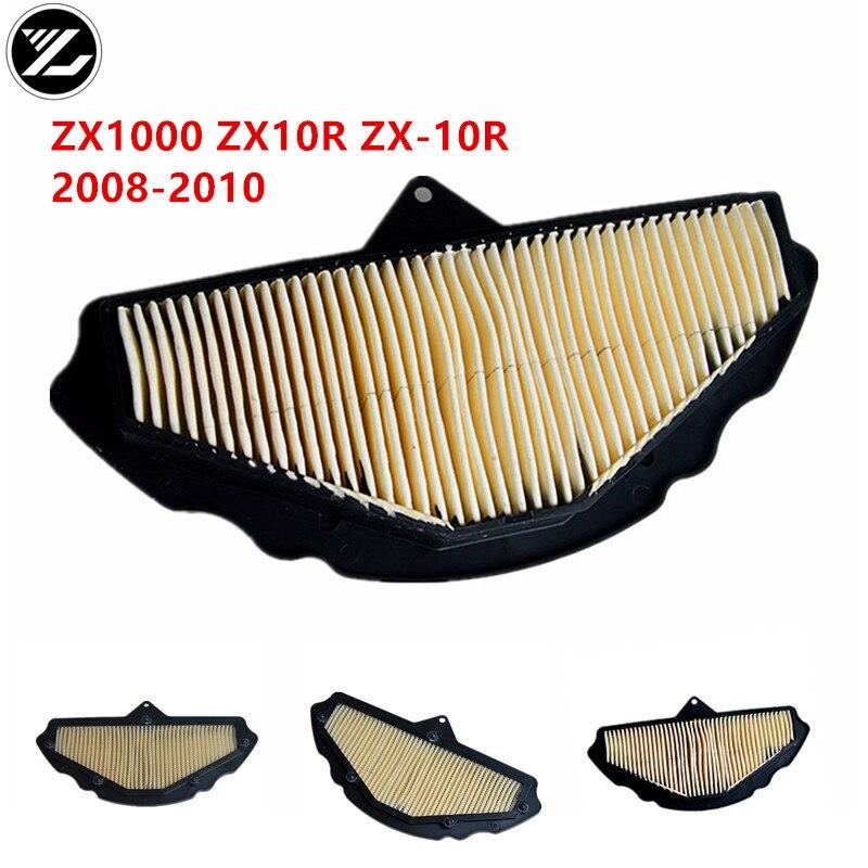 Acessórios da motocicleta remoção do filtro de ar filtro de ar mais limpo para kawasaki zx1000 ninja zx10r ZX-10R ZX-10 2008-2010 08 09 10