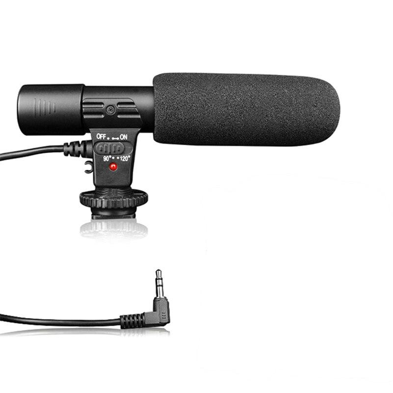 Câmera Filmadora Microfone Microfone estéreo Para Nikon Canon Sony Samsung Panasonic Pentax Olympus Câmera Digital SLR