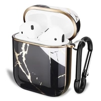 2020 new arrivals airpods case luxury electroplating gold marble protective cover charging case for apple airpods