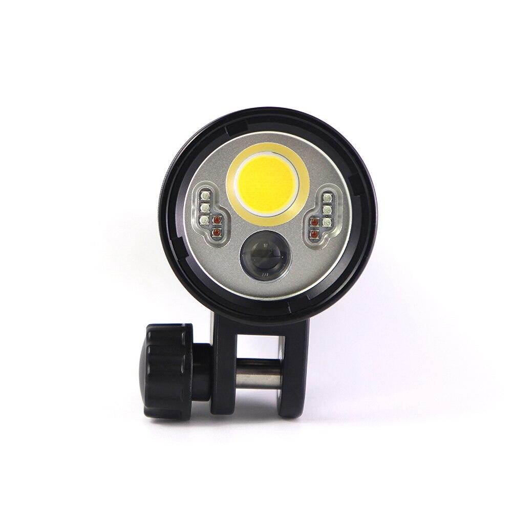 PowerKAN 4000 lumens ultra-bright underwater video light IP68 waterproof level multi-color light adjustable diving flashlight enlarge