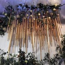 Arc en plastique PVC créatif pour mariage   Décoration darrière-plan darc de mariage, pôle fleur artificielle, chargement central de scène