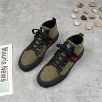 mens shoes canvas shoes fashion plus velvet mens vulcanized shoes mens sports shoes lace up mens high top shoes womenshoes