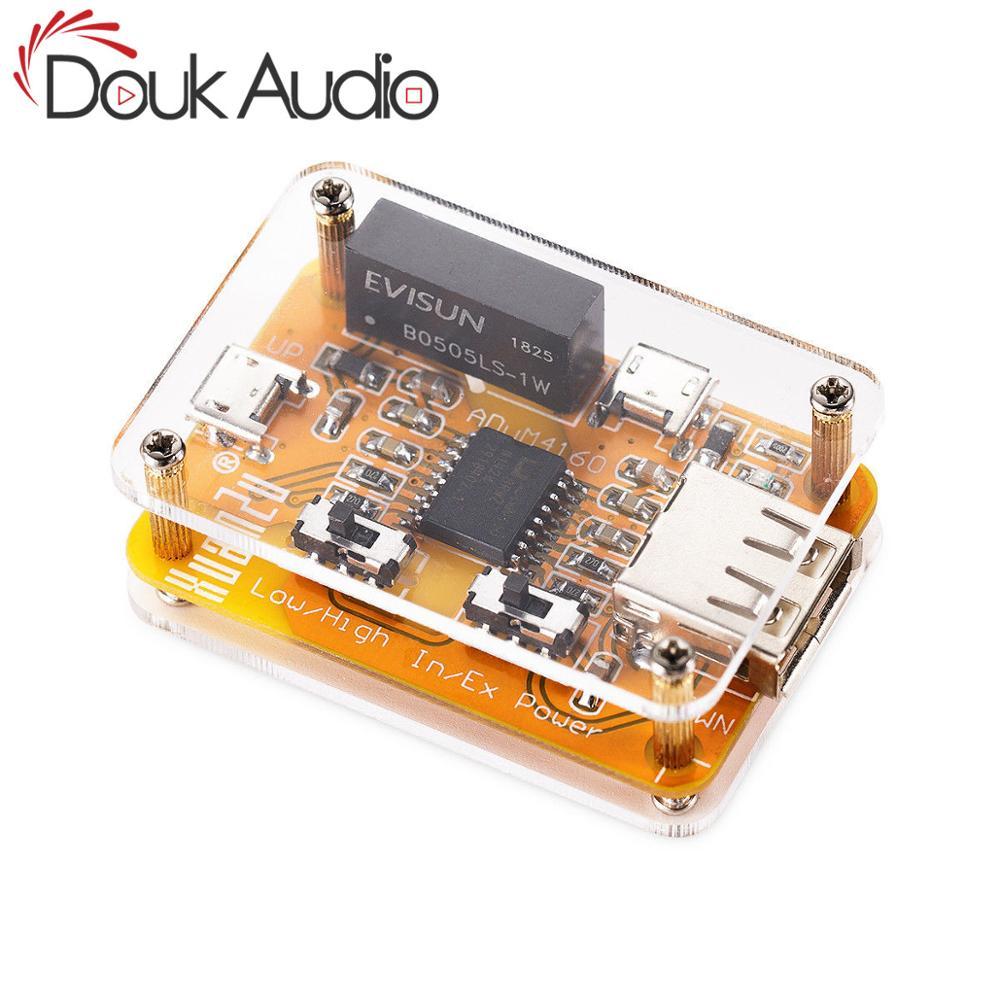 Douk áudio adum4160 usb para usb módulo isolador de áudio eliminador ruído industrial proteção 1500 v módulo digital