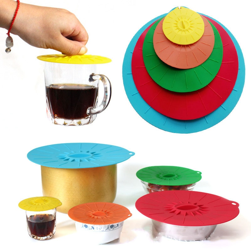 Microwave Bowl Cover Cooking Tools Food Reusable Silicone Stretch Lids Pot Pan Universal Lid Cover Bowl Pot Kitchen Accessories