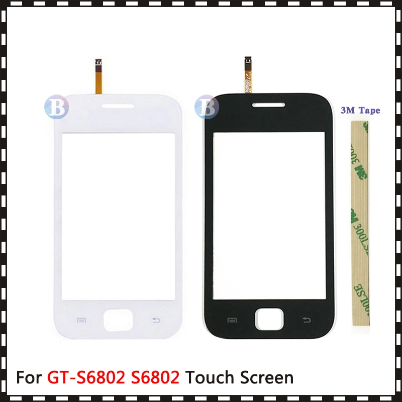 """Высокое качество 3,5 """"для Samsung Galaxy Ace DUOS GT-S6802 S6802 сенсорный экран дигитайзер Датчик внешняя стеклянная линза Панель"""
