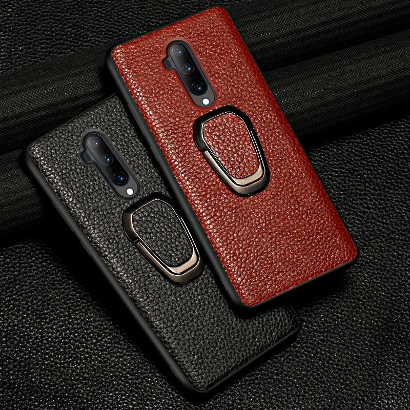 Original Litchi Grain Leather Magnetic Phone Case for Oneplus 7T Pro 8 Pro 7 Pro 6 6T Cover for One Plus 7 Pro 5 5T 7Pro 6T 8Pro