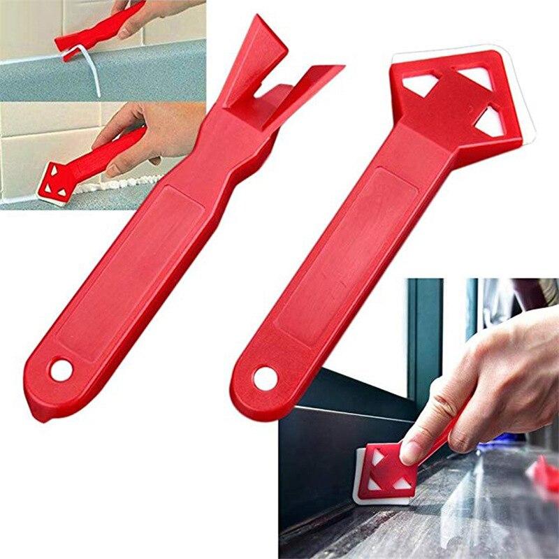 2 stücke Winkel Schaber Glas Silikon Zement Schaber Werkzeug Glas Schaber Schaufel Klinge Entfernung von Rest Gummi Gebäude Rakel