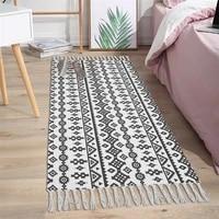 cotton tassels home weave carpets retro bohemian style carpet prayer mat living room carpet bedroom home decoration rugs