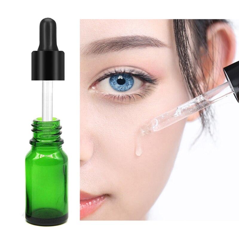 Botella de aceite esencial de 10ml botellas recargables de viaje verdes portátiles botella de pipeta de reactivo líquido 1 pieza
