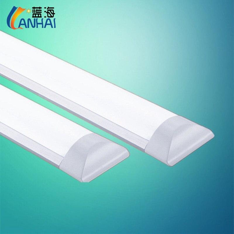 Triple protección purifica la lámpara de tira de luces LED ultrafino completo conjunto tubo fluorescente de techo en forma de barra de oficina integración chan