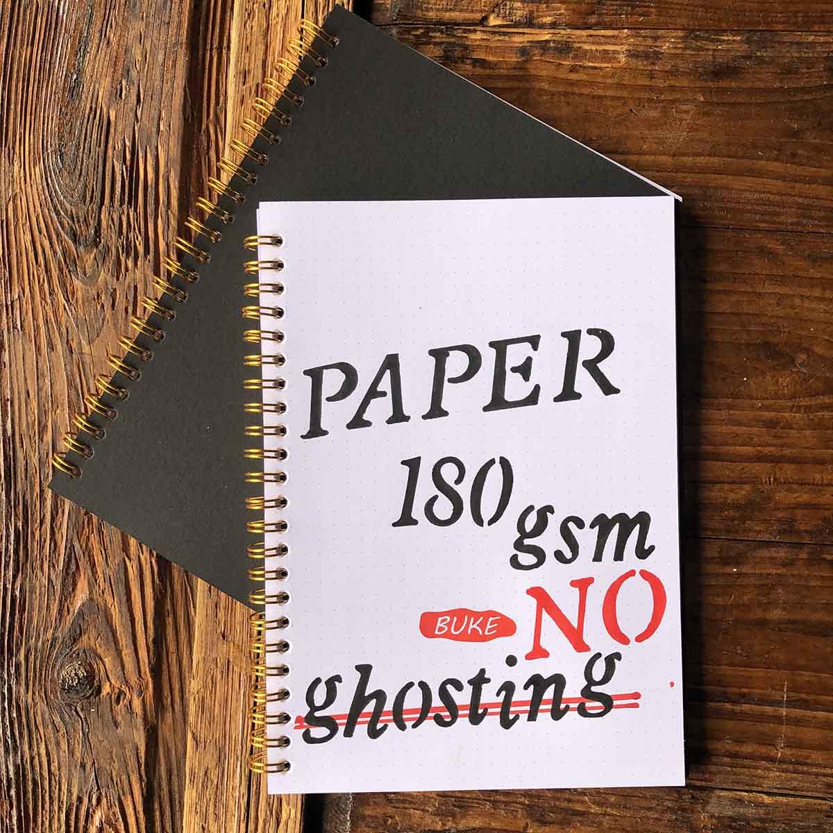 180gsm bujo super-grosso papel ponto grade caderno pontilhado diário desenho sketchbook, 5.8x8. 3 polegadas, anéis de ouro
