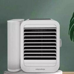 Xiaomi microhoo condicionador de ar portátil ventilador pessoal usb ventilador refrigerador de ar ventilador bladeless condicionado para casa