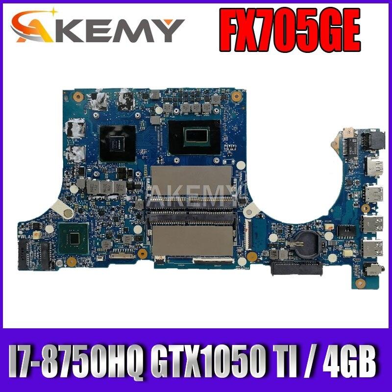 Akemy FX705GE اللوحة الأم ل For Asus TUF الألعاب FX705G FX705GE FX705GD 17.3 بوصة اللوحة الرئيسية I7-8750H GTX1050TI /V4GB