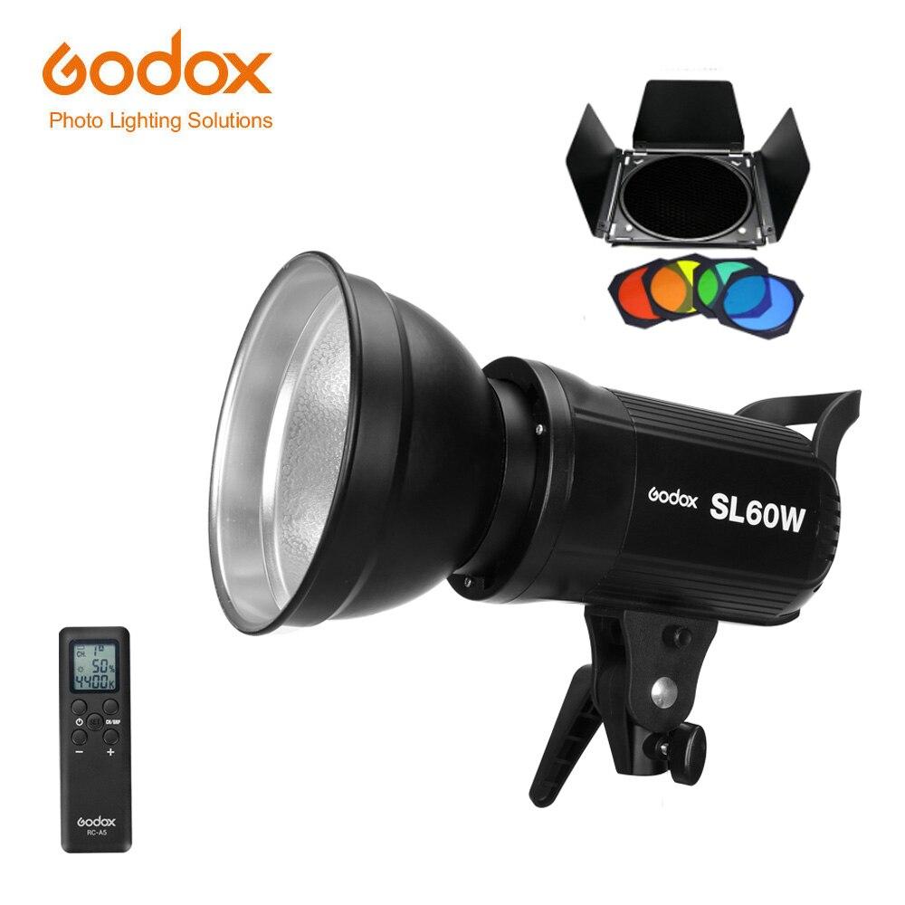 Free DHL Godox LED Video Light SL-60W 5600K White Version Video Lamp SL Continuous Light Bowens Mount for Studio Video Recording