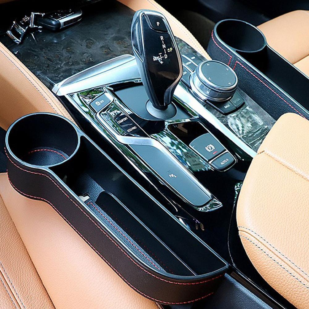 Accesorios de coche, organizador de asiento de coche, caja de almacenamiento, costura de asiento, caja de almacenamiento, organizador de maletero de coche, guantera multifuncional