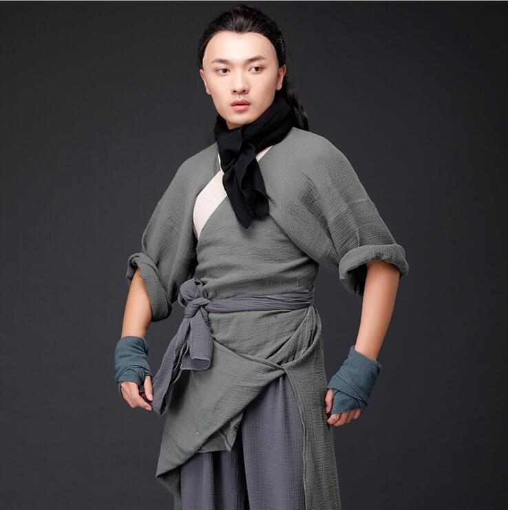 Shui Hu Zhuan película TV traje antiguo Margen de agua prodigal Yanqing mismo algodón y cáñamo hombres artes marciales traje Han troupé group