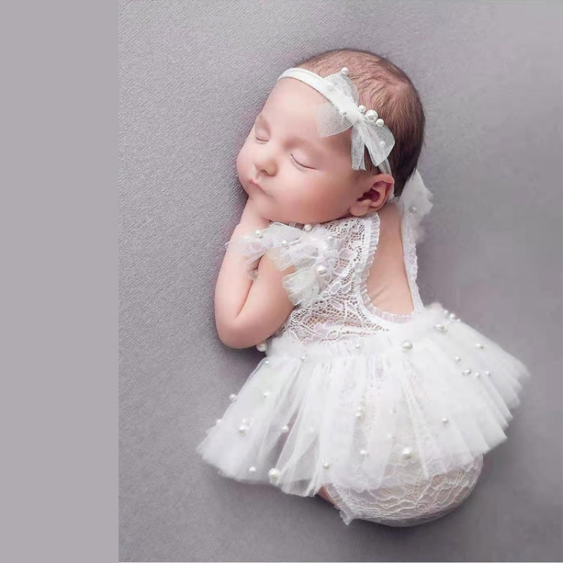 Newborn Photography Props  Baby Girl Lace Romper Bodysuits Outfit Photography Clothing