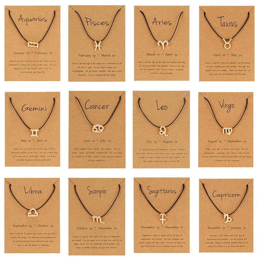 AliExpress - Constellation Simple Bracelets Women Charm Zodiac Sign Braided Black Red String Chain Bracelets Birthday Bracelets Jewelry Gifts