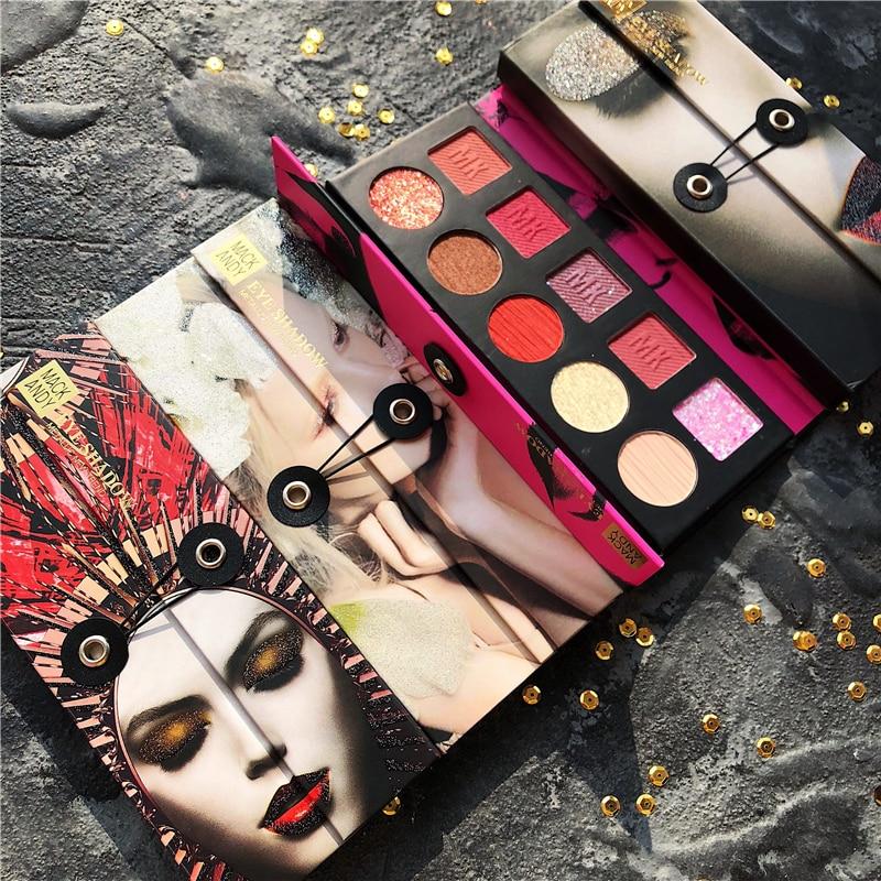 Tendencia urbana 10 colores brillo mate paleta de sombra de ojos purpurina metálica paleta de sombra de ojos desnudo pigmentado maquillaje paleta cosmética