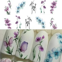 vintage flowers butterfly water transfer art nail sticker manicure diy decals stickers decal the nail sticker is every easy