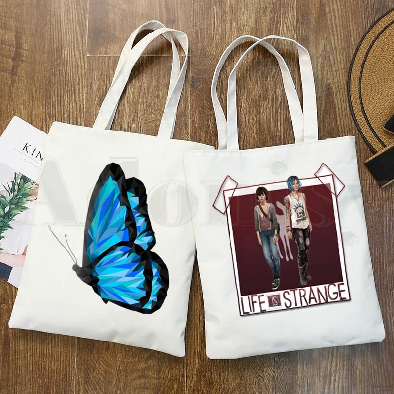 Повседневная сумка для покупок с рисунком из мультфильма «Жизнь странная»