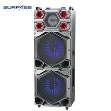 Haut-parleur Bluetooth grande puissance double 15 pouces Subwoofer stéréo haut-parleurs graves lourds lecteur de musique Support Radio FM