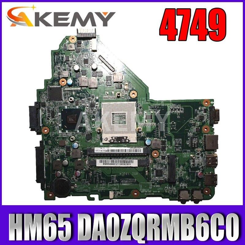 DA0ZQRMB6C0 اللوحة الأم لشركة أيسر أسباير 4349 4749 اللوحة الأم HM65 MBRR406001100٪ اختبار mianboard الأصلي