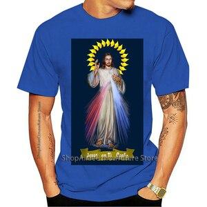 Vestuário Francês Camiseta Jesus Misericórdia Divina França Católica 101 3188 2021 Leisure Fashion T-shirt 100% Cotton