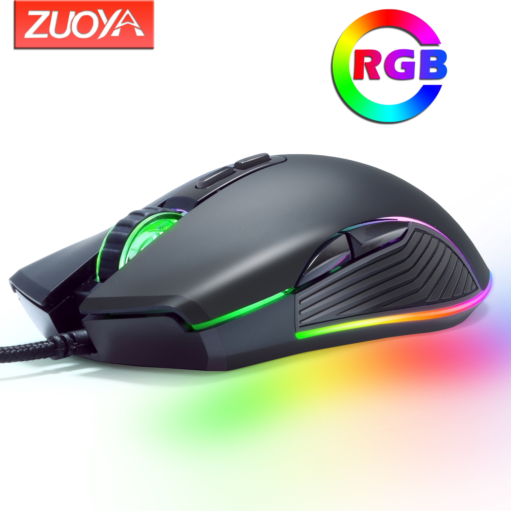 Original Wired RGB Gaming Mouse Optical Gamer Mice Adjustable DPI With Backlight For Laptop Computer