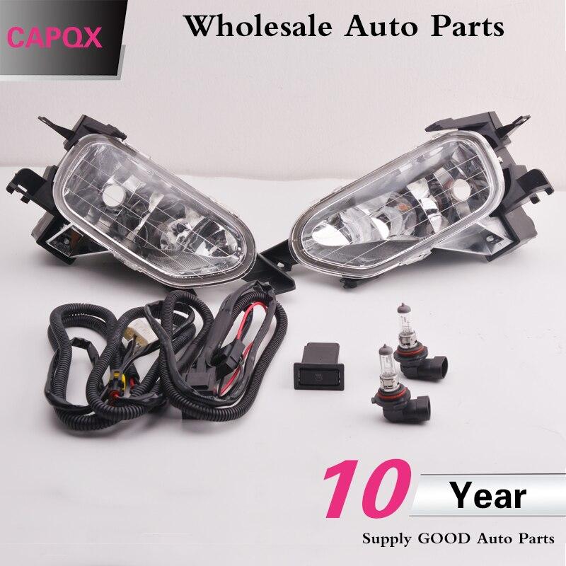 CAPQX 6 יחסט נהג קדמי ערפל אור מנורות עם חוט ערכת HB4 נורות חוט לרתום עבור CRV RD5 RD7 2002 2003 2004 33951-S9A-003