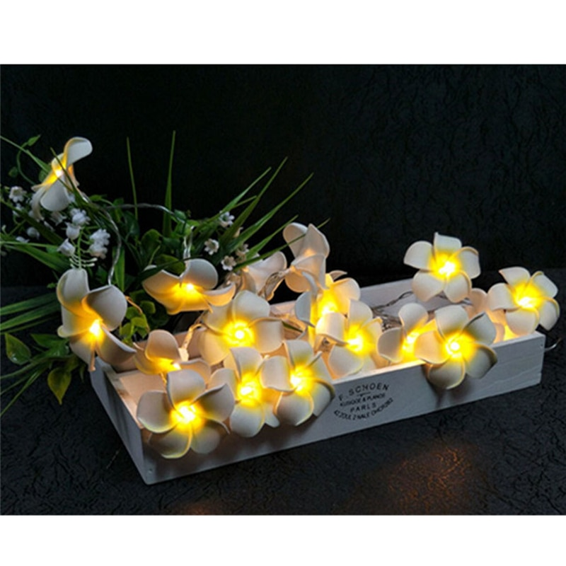 Guirnalda de luces Led Frangipani para decoración del hogar guirnalda de luces de hadas decoración de Navidad al aire libre decoración para fiesta de boda