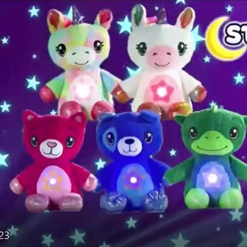 Star Night Light Star Projector Plush Toy Birthday Party Kids Gifts Starry Galaxy Projection Belly Lamp Bedroom Decoration enlarge
